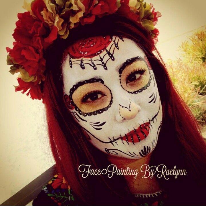 rose sugar skull face painting - Skull Face Painting Ideas For Halloween
