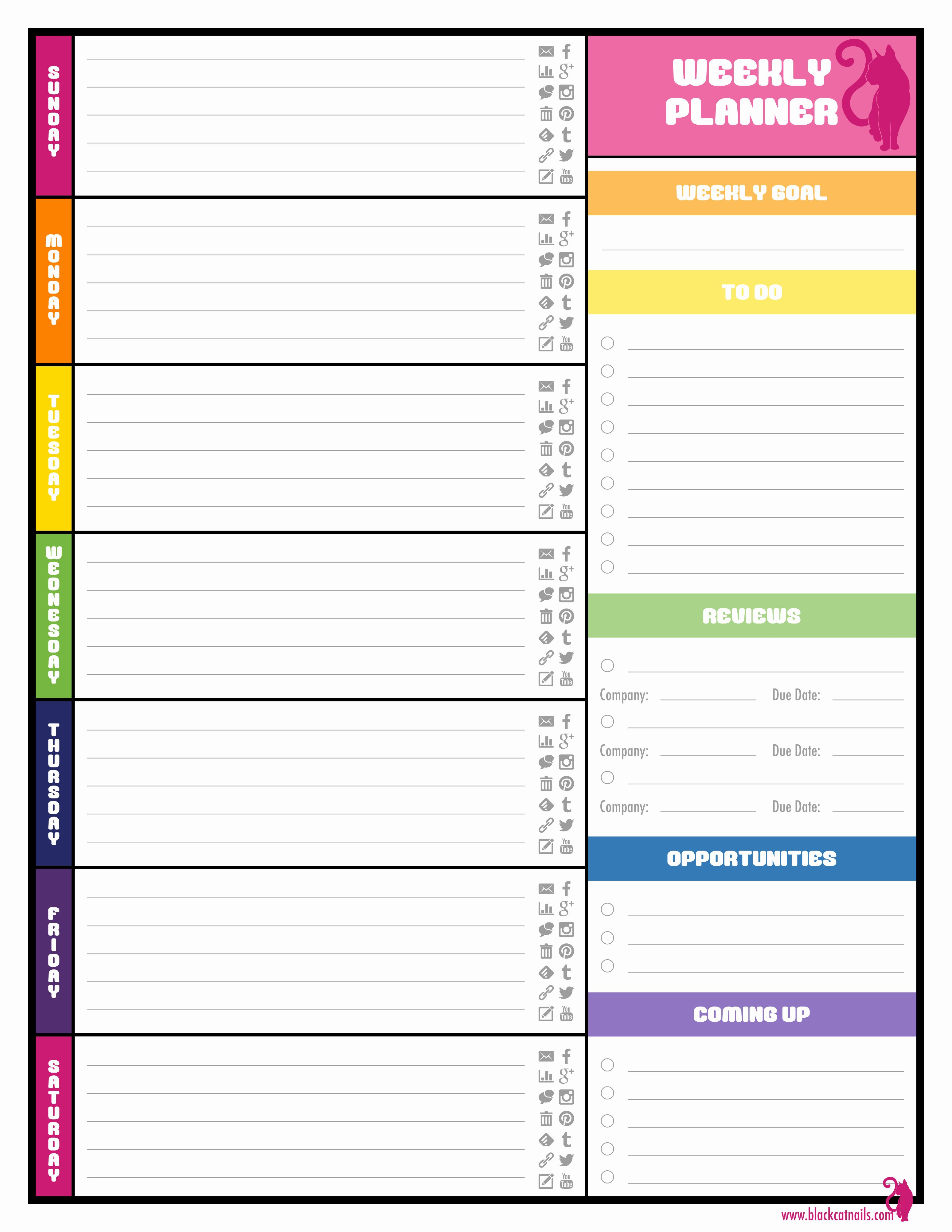 2016 Daily Planner Template Best Of Weekly Planner Template Beepmunk In 2020 Weekly Planner Template Weekly Calendar Template Free Weekly Planner Templates