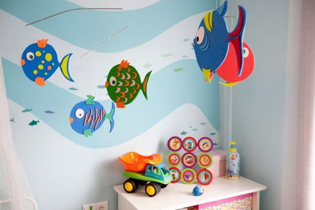 Peces de goma eva crafts pinterest manualidades - Decorar paredes infantiles con goma eva ...