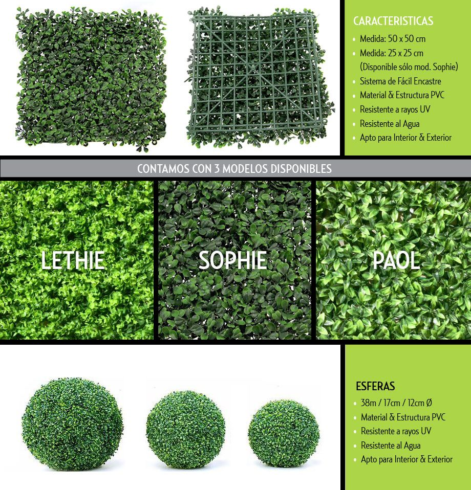 Just green muros verdes artificiales para decoracion for Arbustos artificiales para exterior