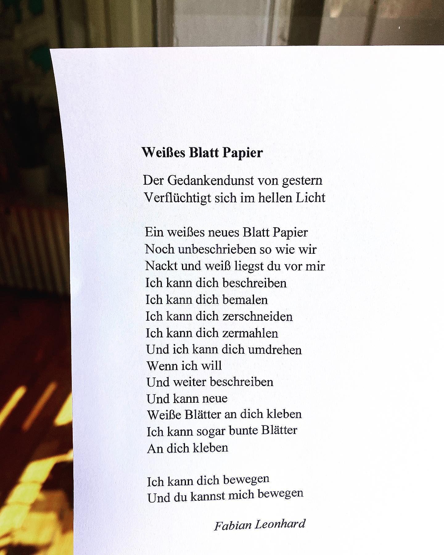 Gedicht neuanfang