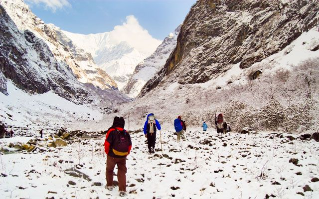 Annapurna base camp trek avalanche spot