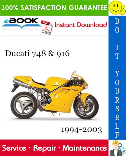 Ducati 748 916 Motorcycle Service Repair Manual 1994 2003 Download In 2020 Ducati Ducati 748 Repair Manuals