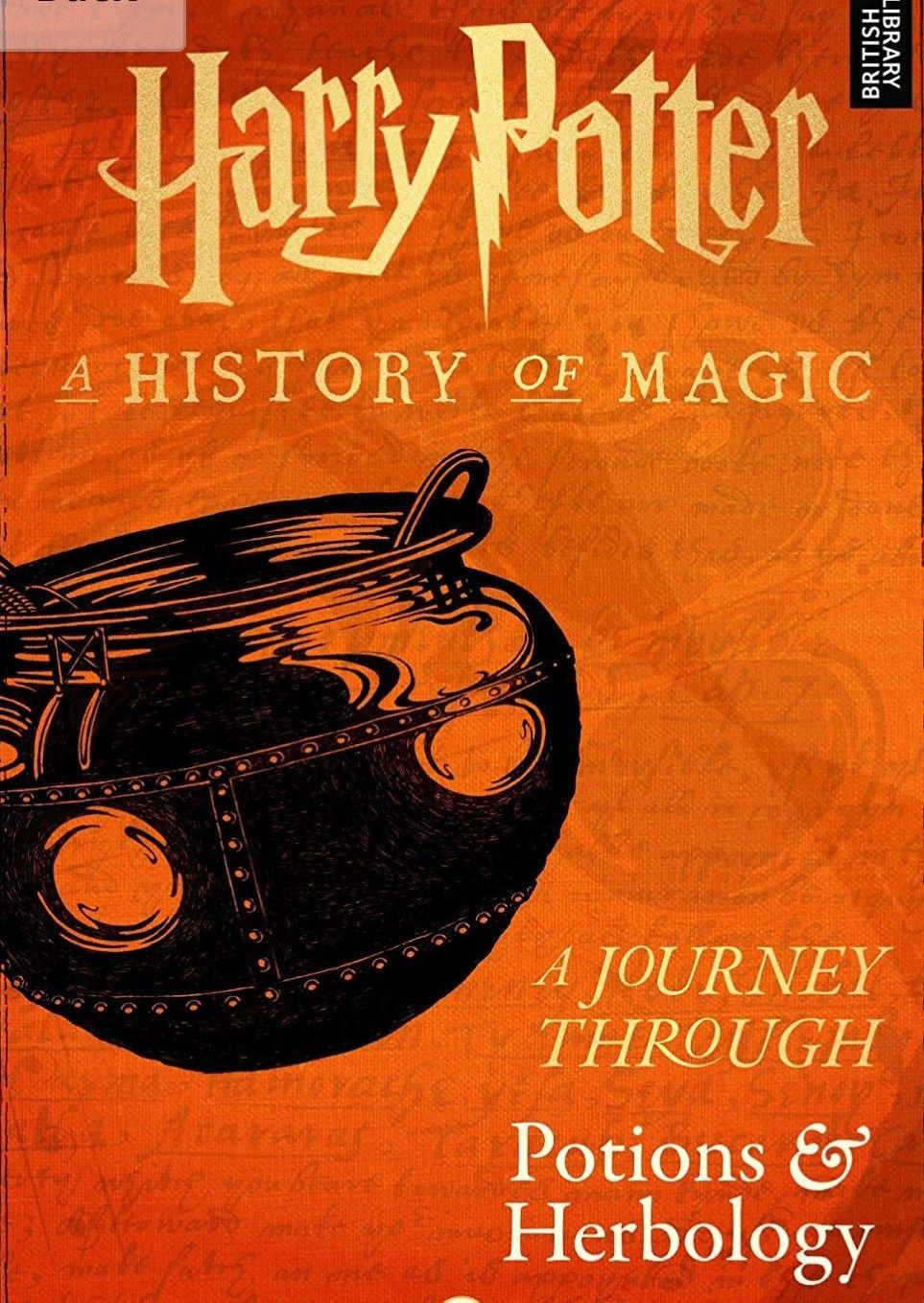 Harry Potter History Of Magic Potions Books U Book A History Of Magic