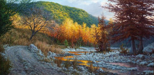 Realistic Art Gallery Of Oil Paintings By William Hagerman Landscape Art Oil Painting Landscape Landscape Paintings