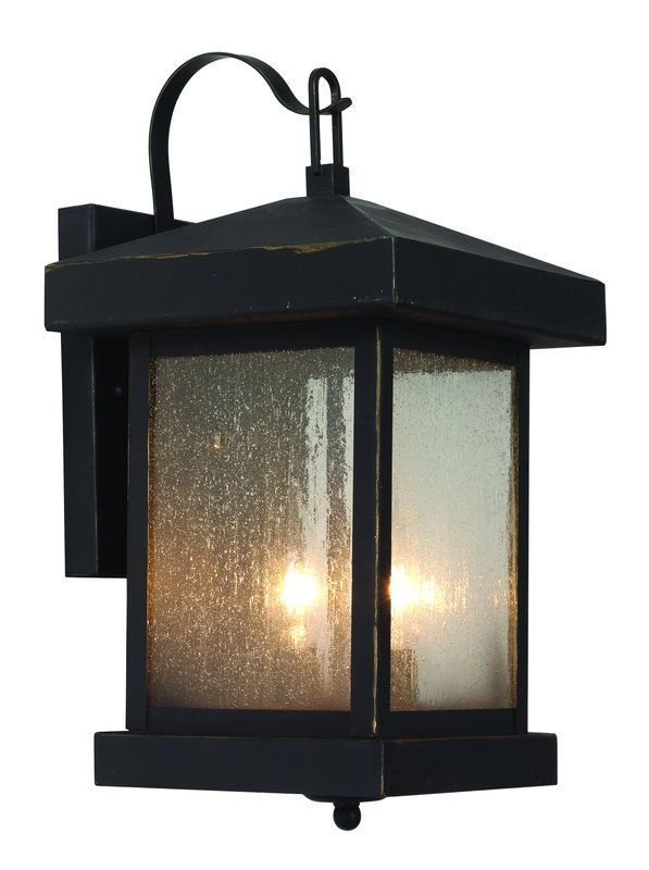 View The Trans Globe Lighting 45641 Asian Two Light Down Outdoor Square Wall Sconce From