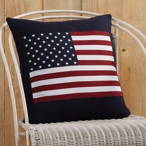 Flag Applique Pillow 18x18
