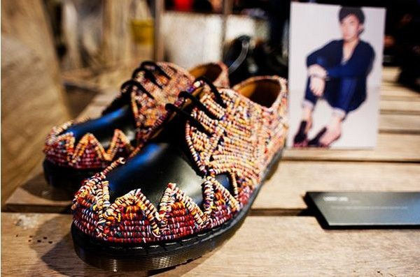 "Famous Shoes in ""bohemian"" collection Zouk x Dr. Martens in 1461"