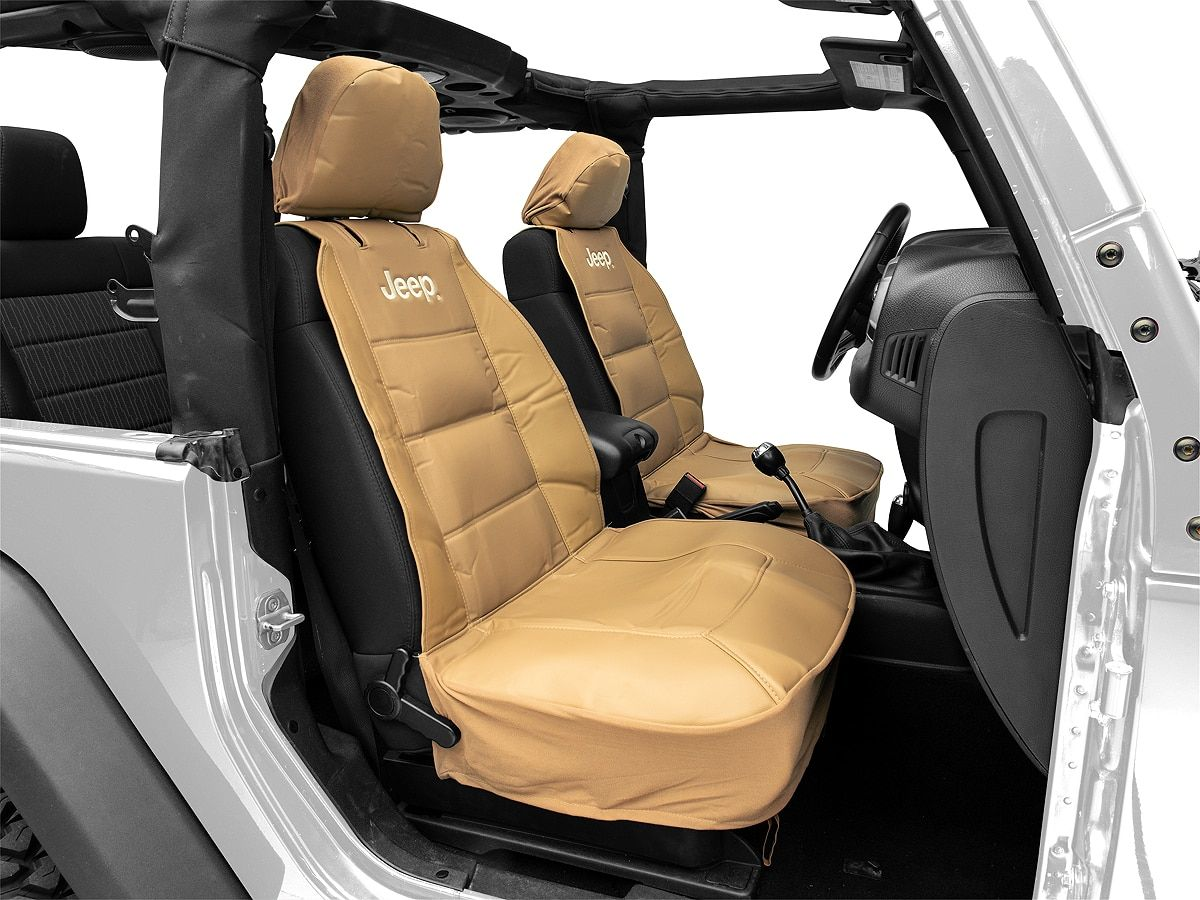 Alterum Jeep Logo Sideless Seat Cover Tan 87 20 Jeep Wrangler Yj Tj Jk Jl With Images Jeep Interiors Jeep Wrangler Upgrades Jeep Wrangler