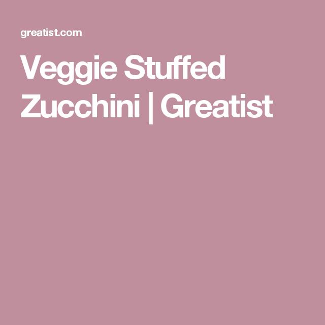 Veggie Stuffed Zucchini | Greatist