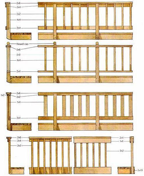 Plans Deck Railing Designs Wood Deck Railing Deck Railing Design Deck Railings
