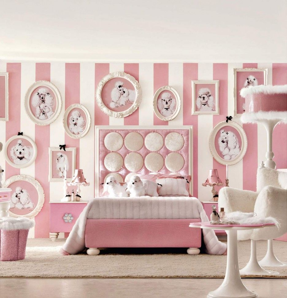 girls bedroom decoration and wall shapes