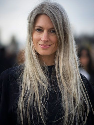 30 Celebrities Who Ve Made Going Gray Look So Chic Natural Gray Hair Long Gray Hair Long Hair Styles