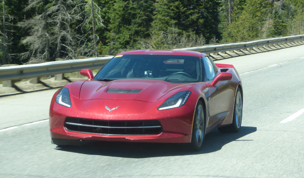 Captured 2014 Chevy Corvette C7 on the Road High