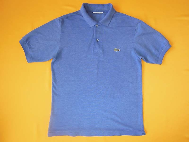 c04b8704fd01a Vintage 90s Chemise Lacoste Polo Shirt Short Sleeve Signature Logo Blue  Tennis Designer Collar T Shirt Apparel Short Sleeve Made In France by  InPersona on ...