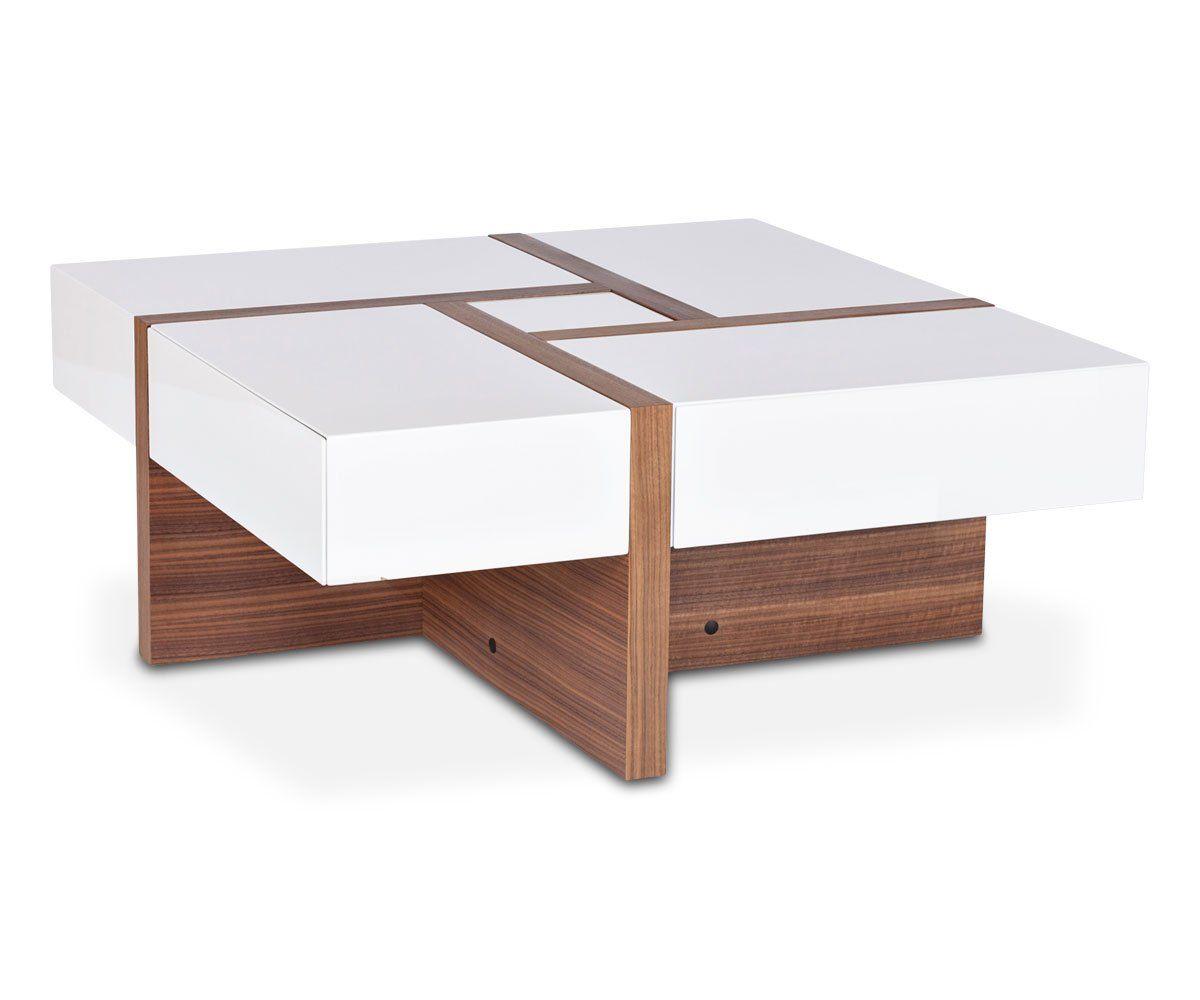 Wooden Coffee Table Storage Oak Furnitureinfashion Uk