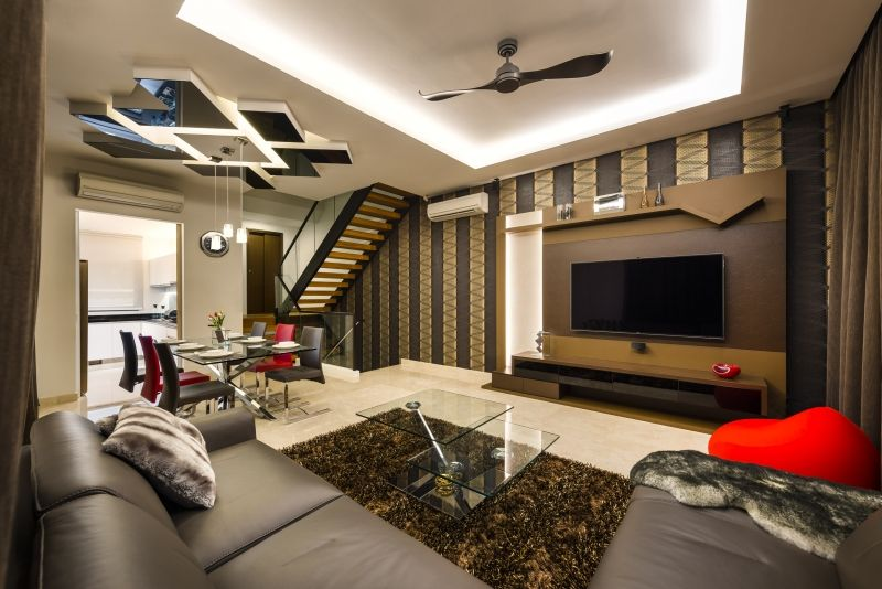 Interior Design For Singapore Homes Living Room Of A Cluster House After Our Interior Designer Worked On It Click Im Cluster House Interior Design Interior