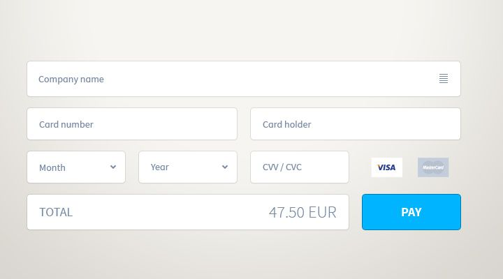Digital Payment Form Page Website Design  Website ECommerce