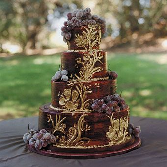 burgundy and gold wedding cake burgundy wedding cake with grapes wedding cake 12229