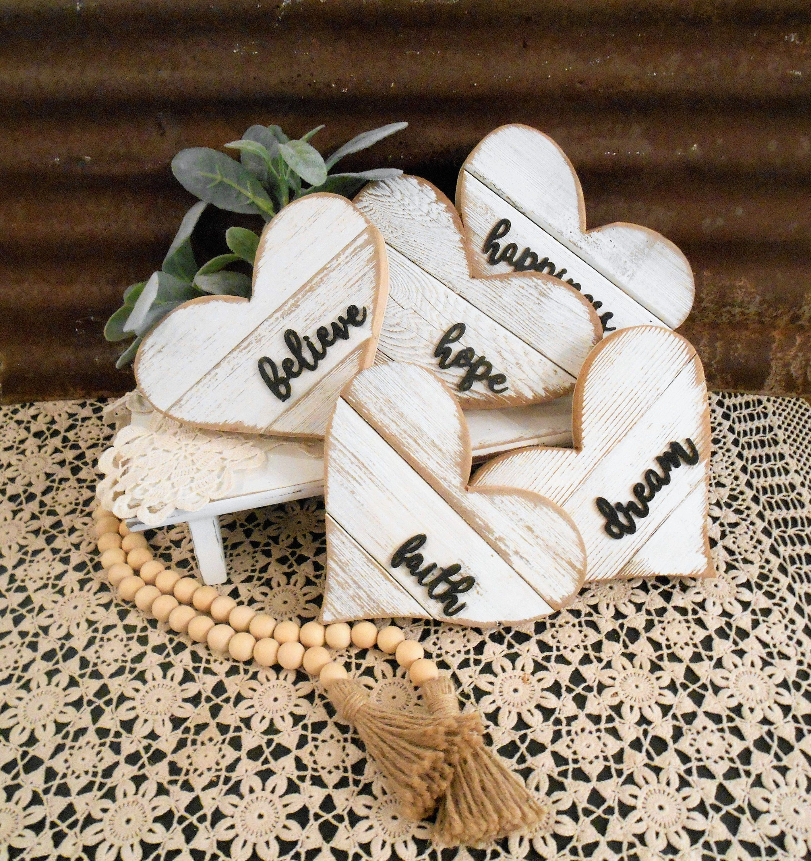 Rustic Farmhouse Small Wood Heart Rustic Heart Farmhouse Etsy Wood Hearts Wood Heart Crafts Scrap Wood Crafts