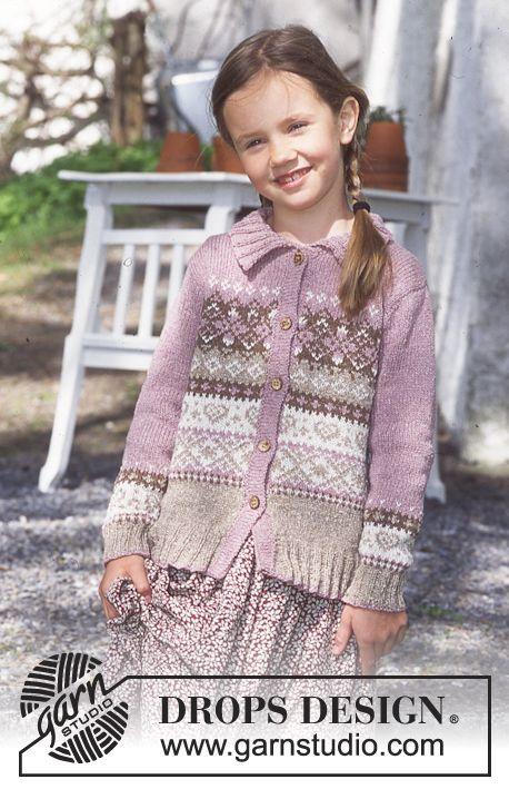 Sweet Marie - DROPS Cardigan in Silke-Tweed or Baby Alpaca Silk ...