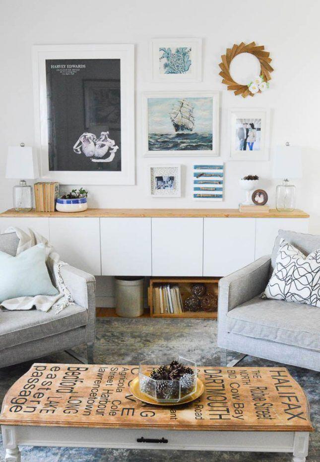 16 Hidden Storage Hacks for Your Living Room | Living room ...