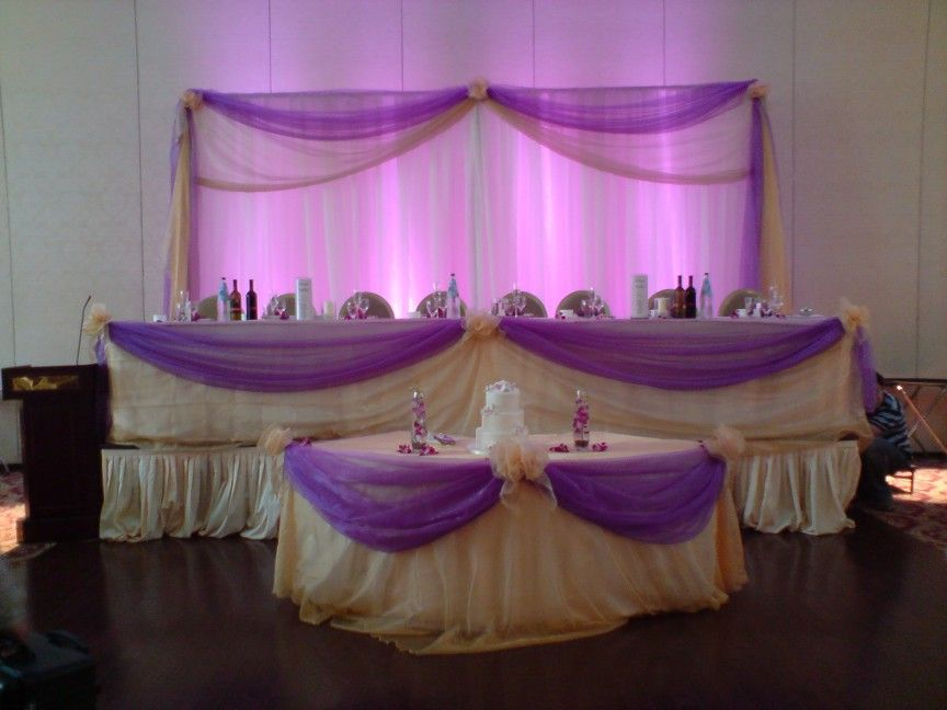 Head table of course in different colors party plastic table decorations presentations 2 go ltd servicing all your audio visual needs junglespirit Gallery
