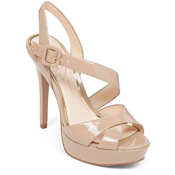 Jessica Simpson Beverlie Patent High Heel Sandals ($27