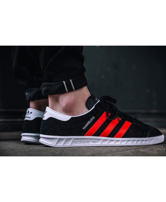Adidas Hamburg Black Red White Colorway Shoes | Sneakers men ...