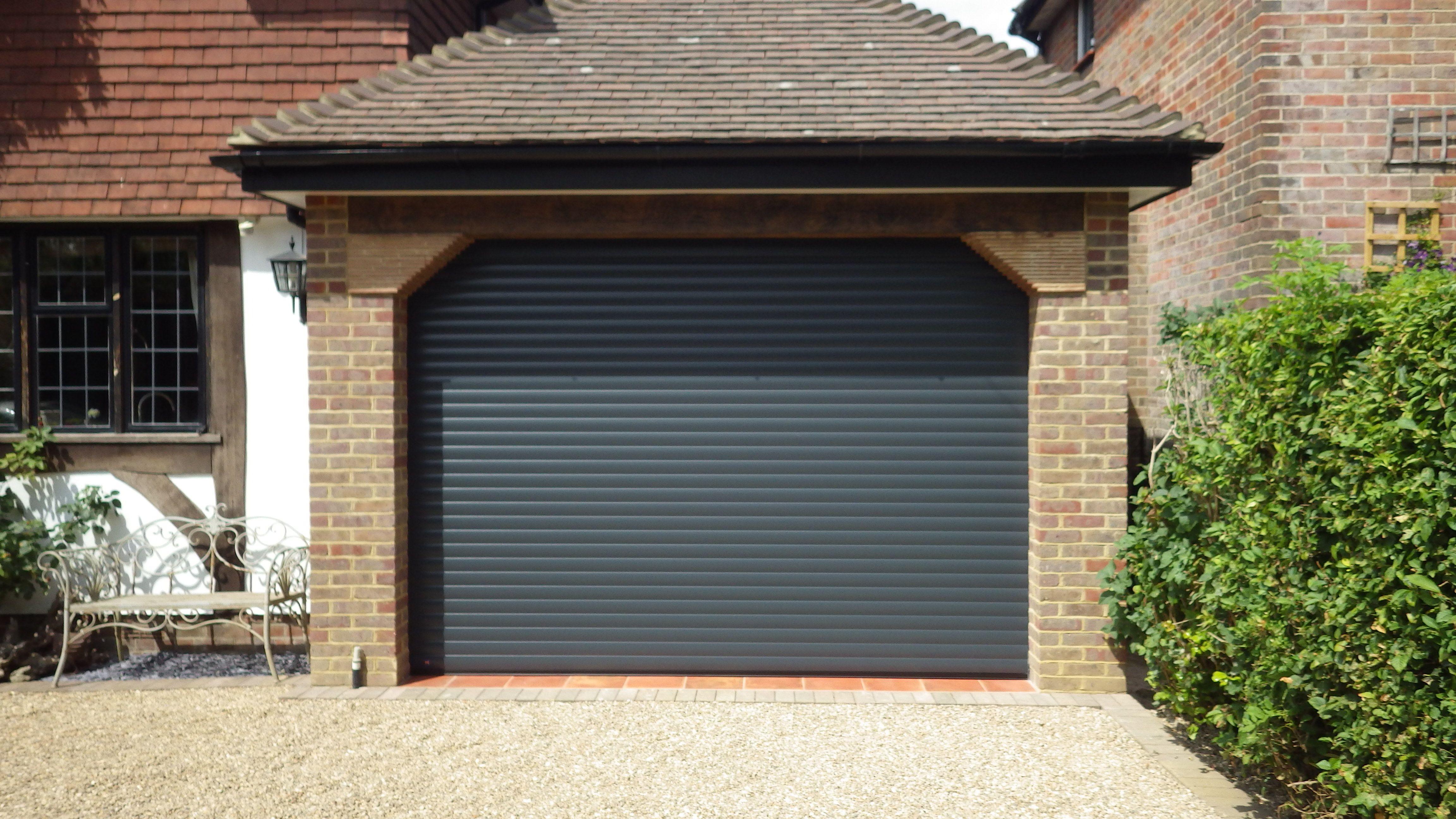 Hormann rollmatic garage door in anthracite grey finish for Garage door finishes
