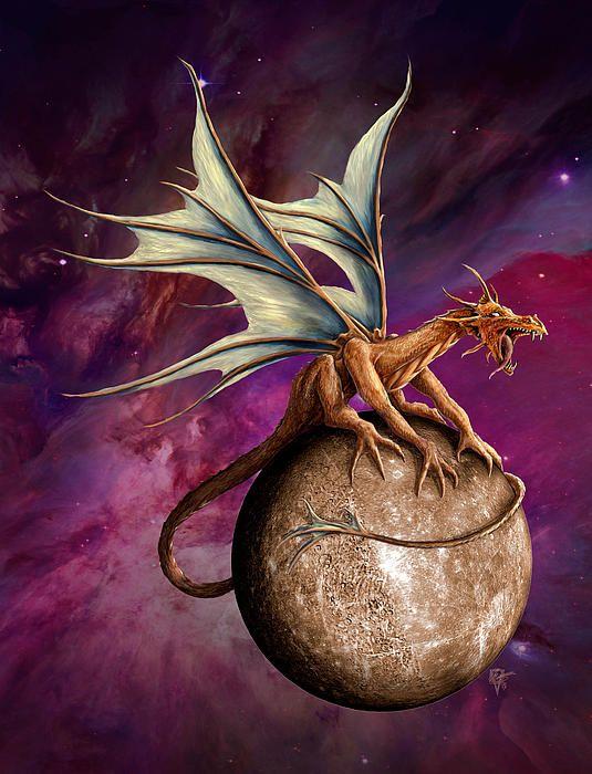 Mercury Dragon - Artist Rob Carlos on Fine art america