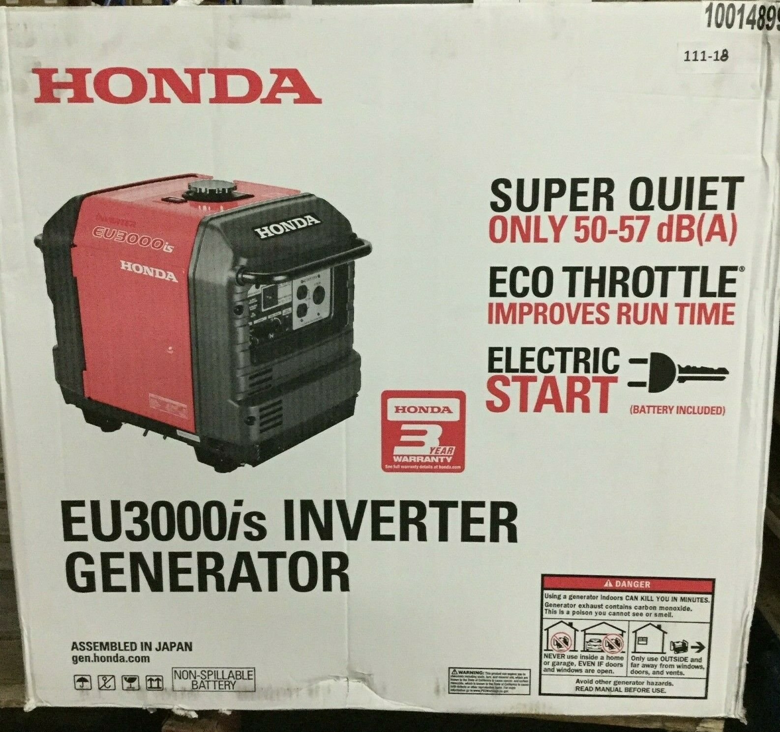 Honda Gas Inverter Generator Eu3000is 3000 Watt Portable Quiet Parallel Power 642554780658 Ebay In 2020 Inverter Generator Generation Power Generator