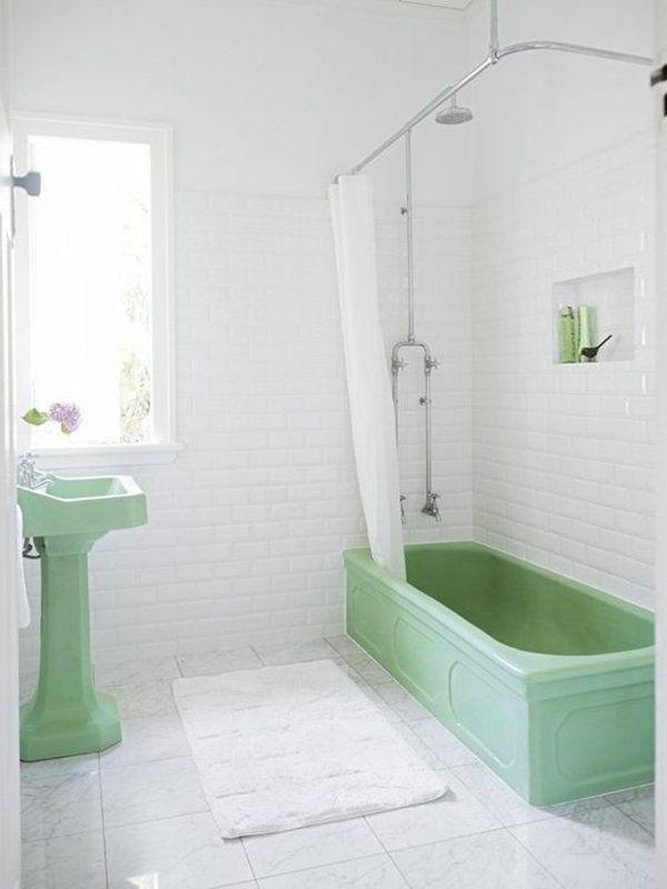 Badezimmer Deko Mint