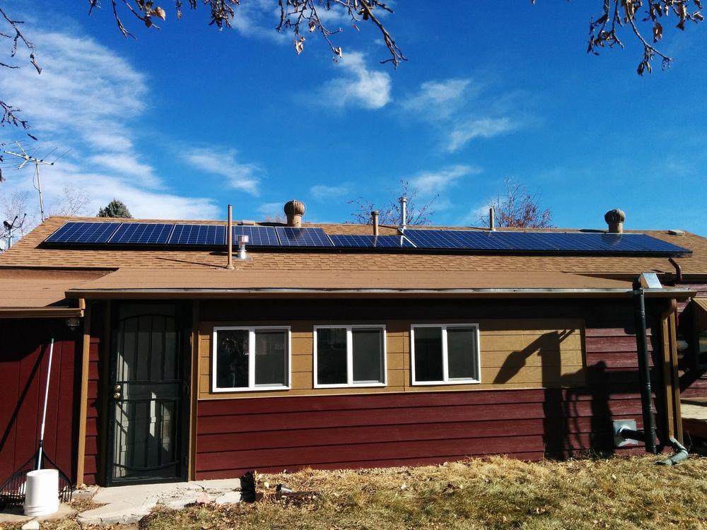 Nik White's house with solar panels in Denver, Colorado.