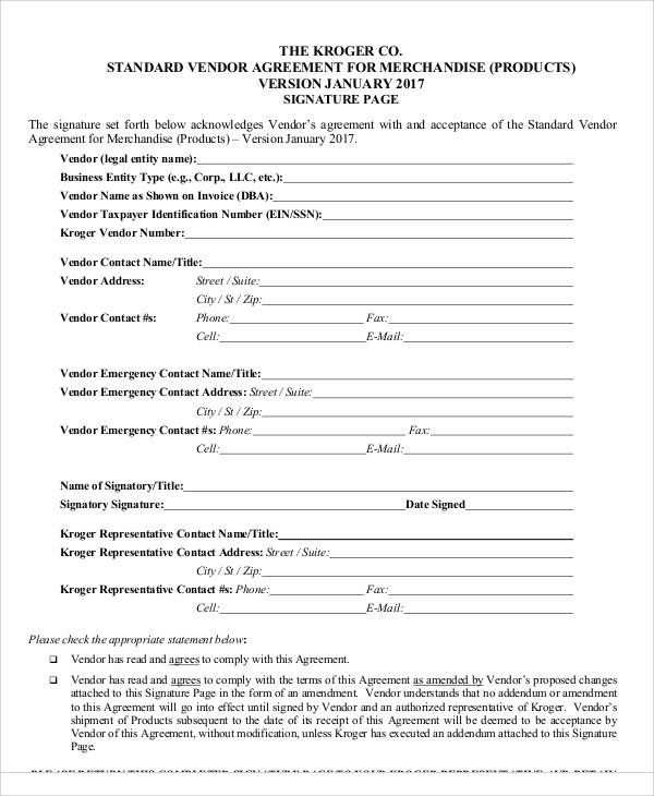 Vendor Agreement Termination Letter Contract For  Interior Design