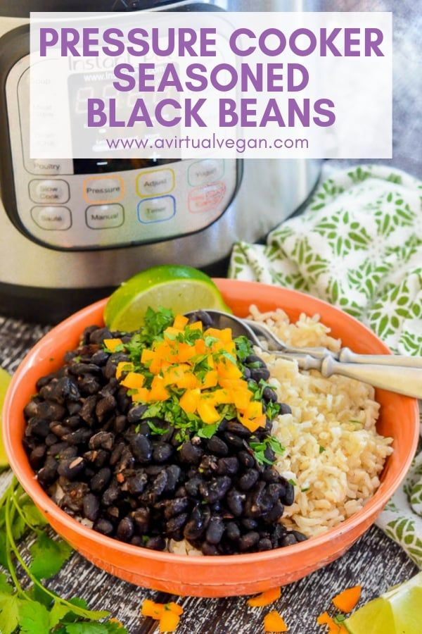 Instant Pot Vegan Seasoned Black Beans