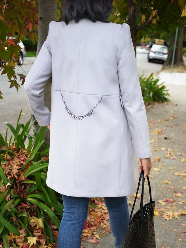 DIY Crystal Belted Coat inspired by Thakoon