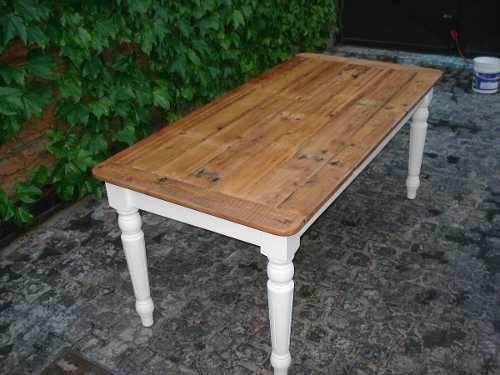 Mesa de campo rustica reciclada mercado libre mesas - Mesas de cocina rusticas ...