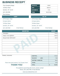 Business Receipt Template Simple Business Receipt Format Receipt Template Invoice Template Word Invoice Template
