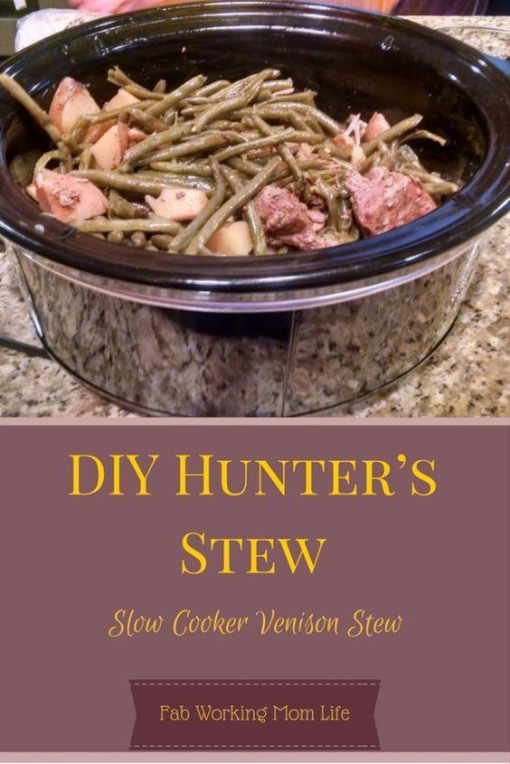 Crock Pot Venison And Potatoes Diy Hunter S Stew Aka Slow Cooker Venison Stew Slow Cooker Venison Deer Recipes Venison Recipes Crockpot