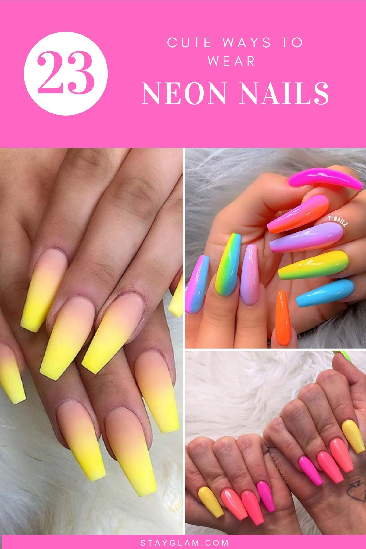 43 Neon Nail Designs That Are Perfect For Summer Stayglam Neon Nail Designs Neon Nails Red Nail Designs