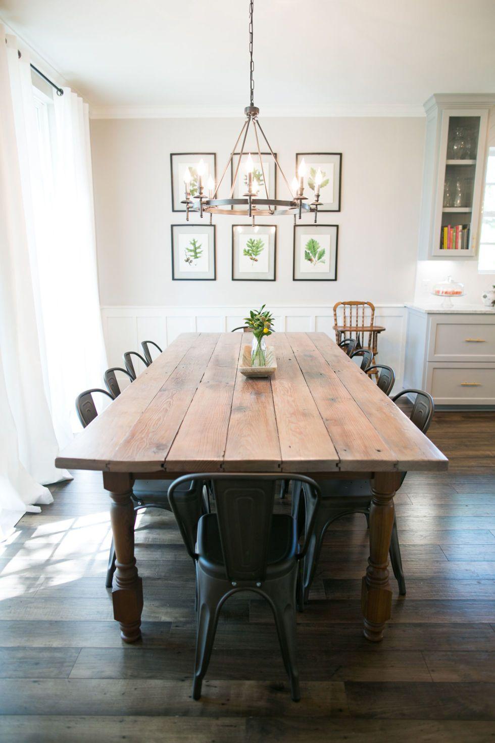 Joanna Gaines Fixer Upper Dining Room Table Farmhouse