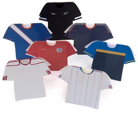 Football Shirt Card For Cardmaking Football Shirts Cards Cardmaking