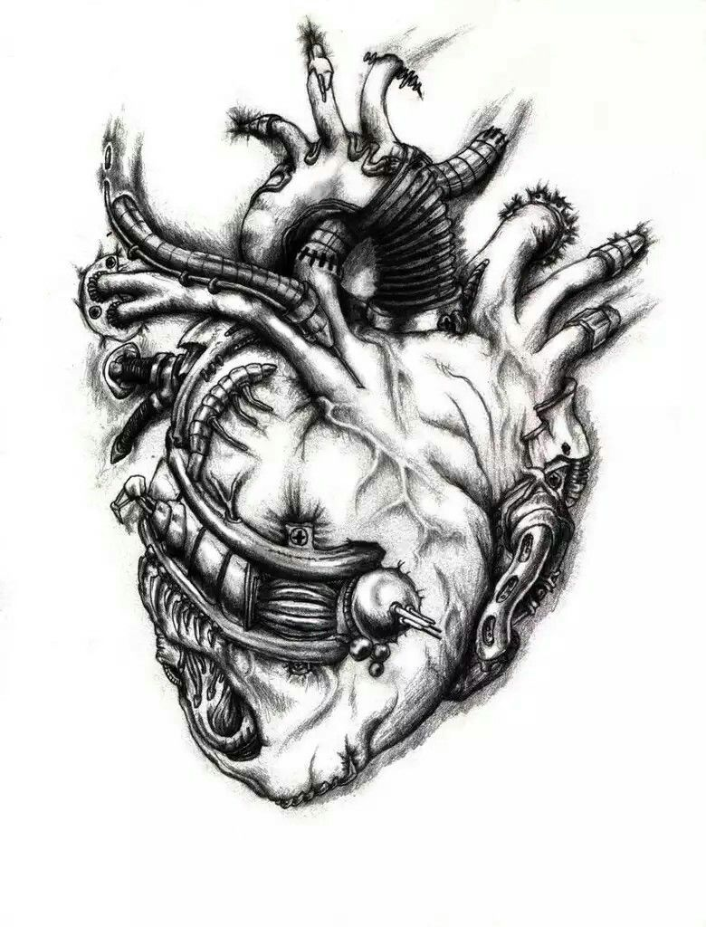 Biomechanical Heart. Biomechanical tattoo, Mechanic