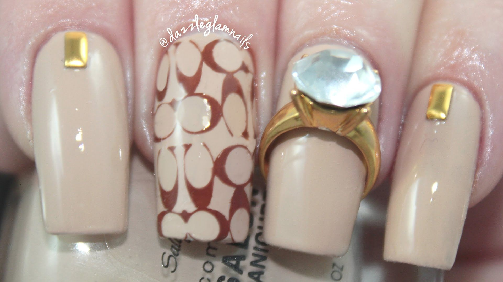 Fancy Designer Nail Art | Coach Inspired | Nails | Pinterest ...