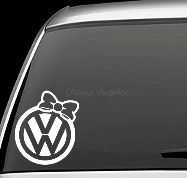 VW Bow Decal Window Sticker Cars Volkswagen And Car Stuff - Cool car decals designcar decal sticker square chain design car design