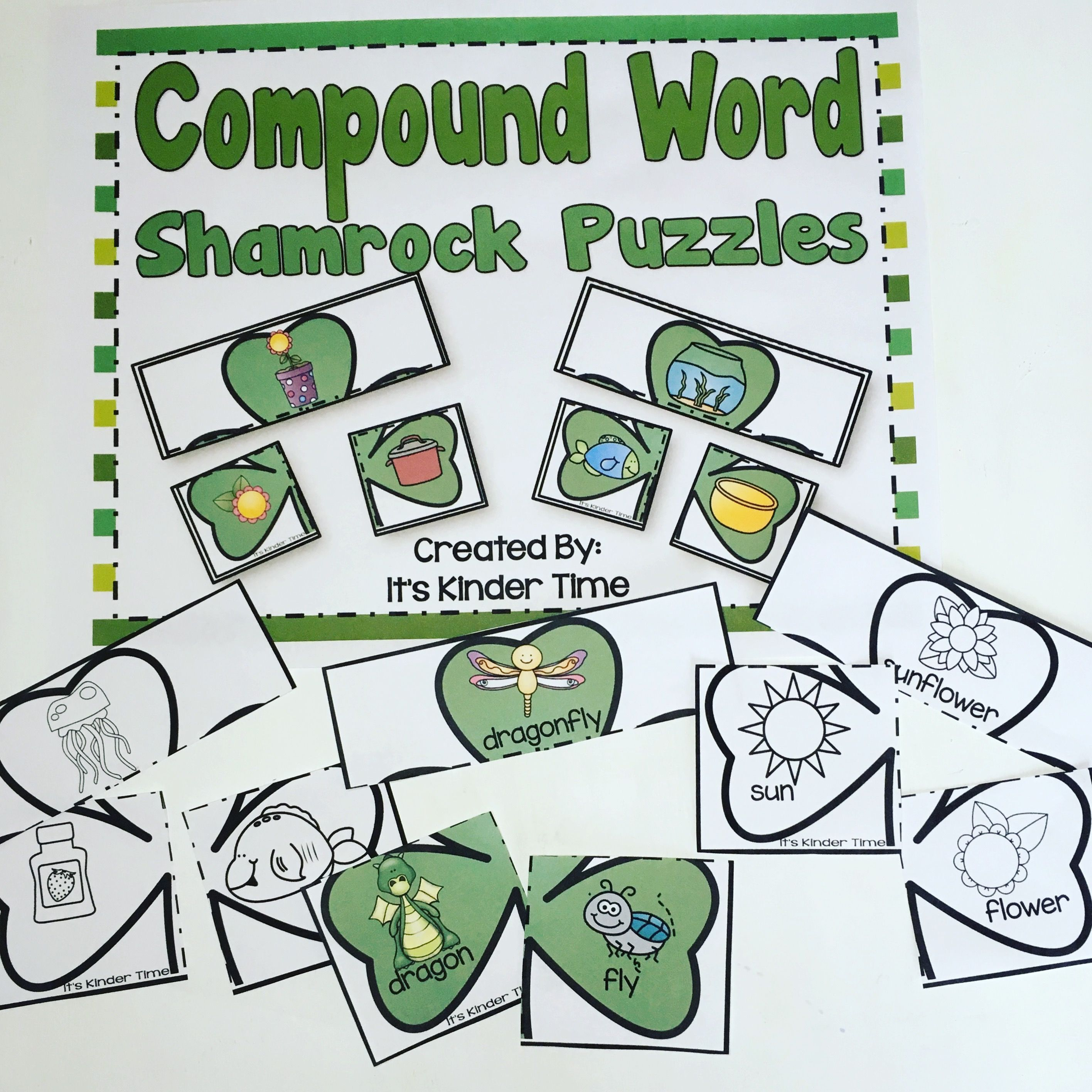 Compound Word Shamrock Puzzles