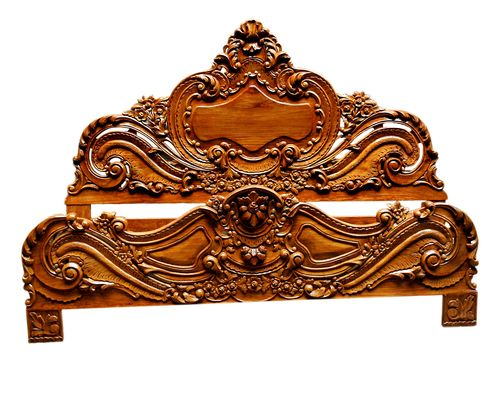 gorgeous antique style hand carved king size bed - Hand Carved Bedroom Furniture