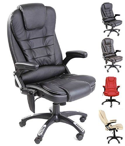Leather High Back Reclining Office / Desk / Study Chair With Massage And  Heat Https: