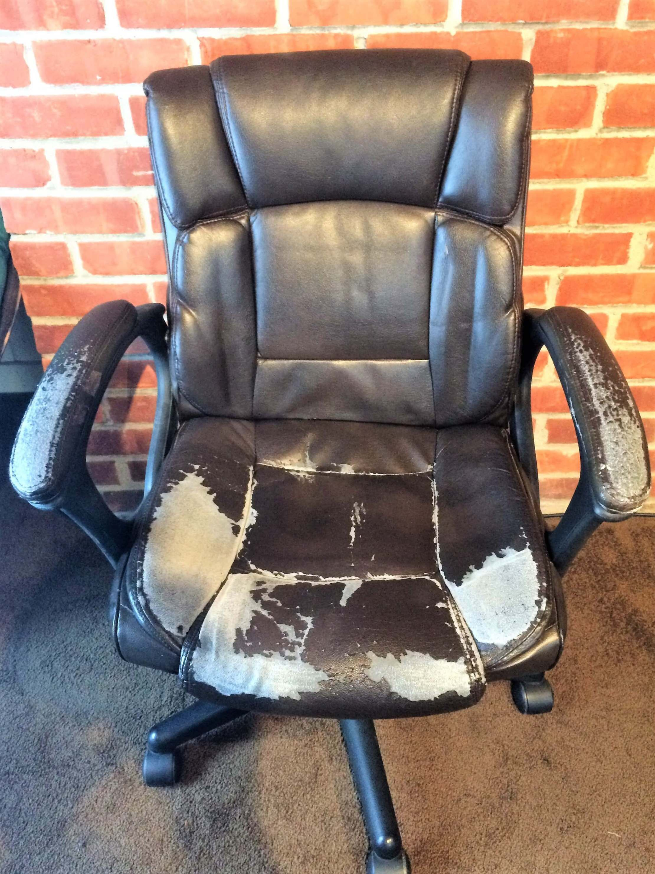 How to Reupholster an Office Chair Office chair makeover